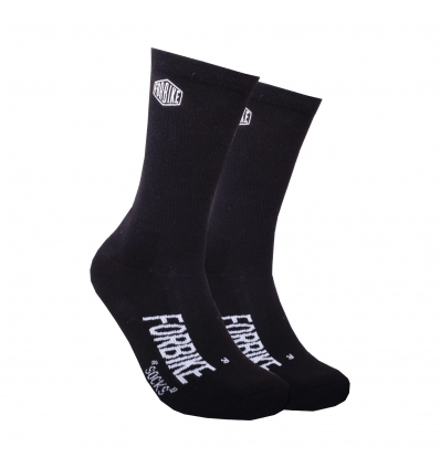 Socks Embroidery Black
